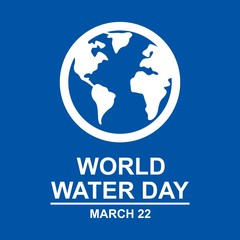 world water day. sticker. poster. vector editable. minimalist