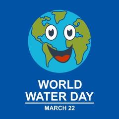 world water day. sticker. poster. vector editable. minimalist