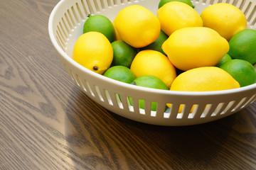 bowl of lemons and limes