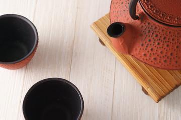 red clay tea pot set