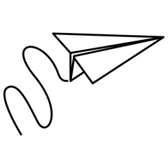 paper airplane flying icon vector illustration design