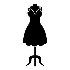 mannequin with elegant woman dress icon vector illustration design