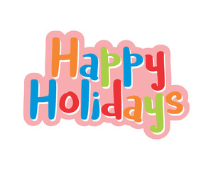 happy holidays typography typographic creative writing text image 3
