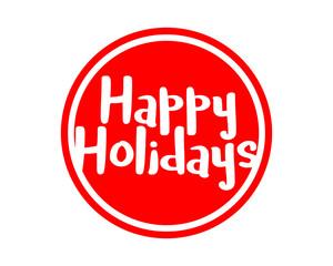 happy holidays typography typographic creative writing text image 1