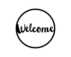 welcome circle alphabet typography font text image vector icon 4
