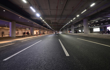 Highway and underground tunnel in Guangzhou, China