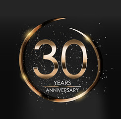 Template Logo 30 Years Anniversary Vector Illustration