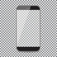 mobile phone icon. Black icon on transparent background.
