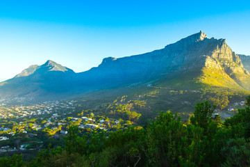 Table mountain and cape town city view ,South Africa