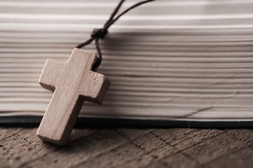 Cross With Holy Bible
