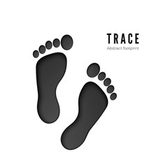 Footprint icon isolated on white background. Print of barefoot icon. dark silhouette of footprint. Vector illustration