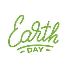 Earth Day. Lettering illustration for Earth Day celebration