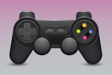 Black joystick , isolate on white background