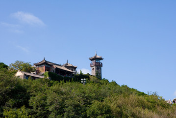 Penglai Pavilion in Shandong province of China