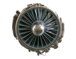 Interior of a aviation jet engine