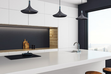 Luxury kitchen studio interior