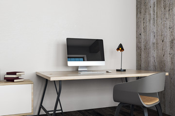 Clean office with workplace