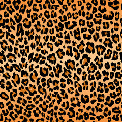 leopard pattern texture repeating seamless orange black fur print skin