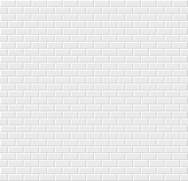 White tile background. Vector