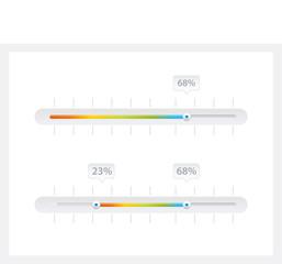 Progress bar, loading rainbow color bar