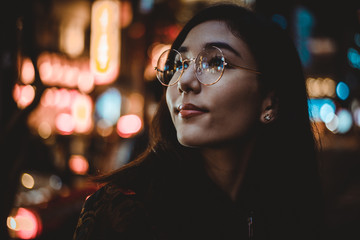 Beautiful asian japanese girl street portraits