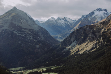 Switzerland mountains and nature. Concepts about traveling and wanderlust