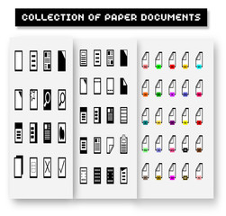 Set of program file formats icons,File extensions vector