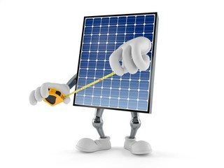 Photovoltaic panel character holding measuring tape