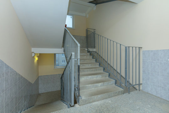 apartment building stairwell