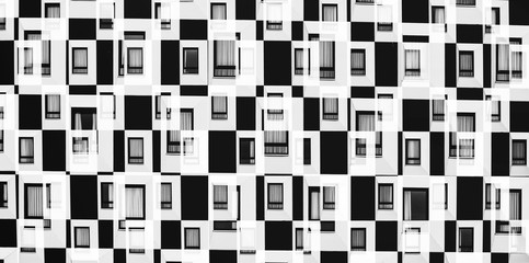 abstract windows on modern building