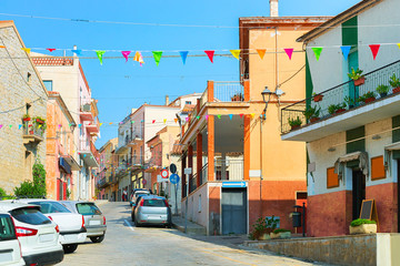 Street with road in Arzachena Sardinia