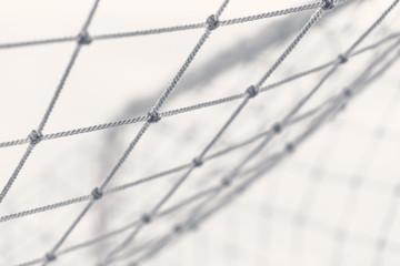 football gate mesh, close-up