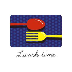 Food restaurant logo design vector illustration