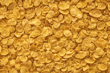 Corn-flakes background and texture, cereal