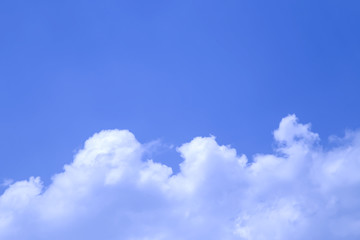 Blue sky background and white clouds.