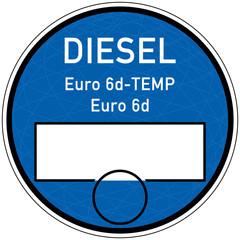 tbes4 TemplateBlueEnvironmentSticker tbes - Designmuster Vorschlag - Blaue Plakette für Fahrzeuge mit Abgasstandard Euro 6d-TEMP / Euro 6d - Einfahrt in Umweltzone - xxl g5902
