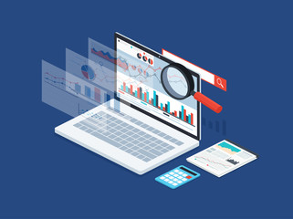 Analysis data and development statistic. Modern concept of business strategy, search information, digital marketing, programming process.