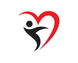 People Love Logo Template Design Vector, Emblem, Design Concept, Creative Symbol, Icon