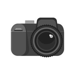 Photo camera icon. Flat vector cartoon illustration. Objects isolated on white background.