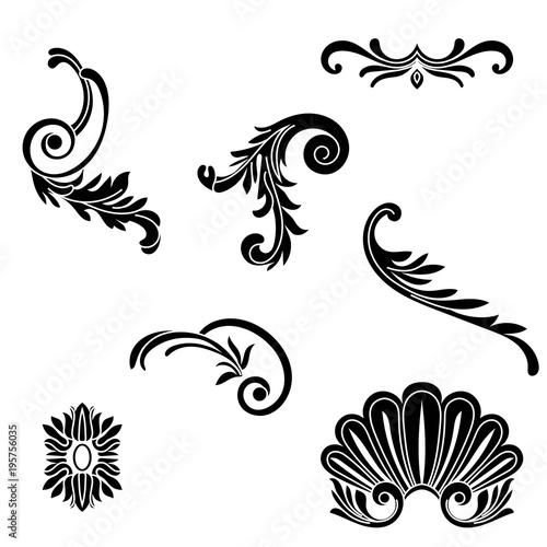 quotvintage baroque ornament corner retro pattern antique