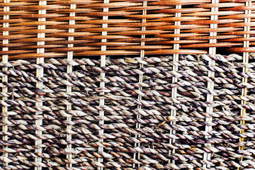 wicker wooden cloth of brown color, texture