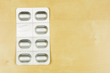 Blister pack with tablets.