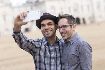 gay couple taking a selfie