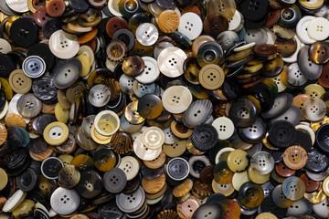 A lot of dress buttons