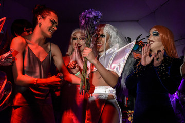 A drag performer named Harajuku Queen wins the drag queen competition called MR(S) BK in the Brooklyn borough in New York City