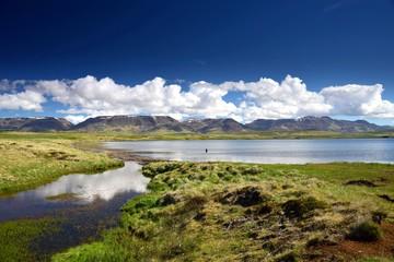 Lake Svinavatn in the northwest of Iceland