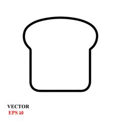 toast icon. vector illustration