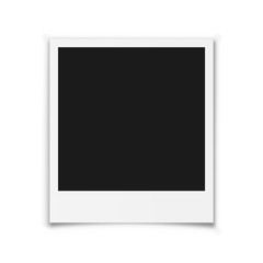 Photo frame mockup. Vector illustration.