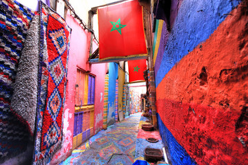Foto auf Leinwand Marokko In the medina of Fes in Morocco