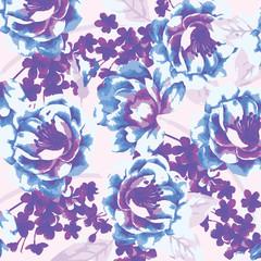 beautiful watercolor roses, bright painting inspired flower print